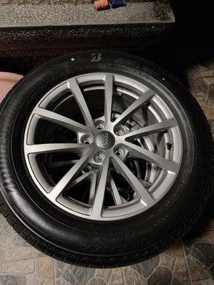 AUDI 2020年 A6 C8 原廠鋁圈含胎 落地拆下 17吋 225/60/17 普利司通 A4 A5 A7 A8