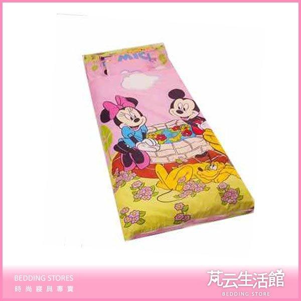 【芃云生活館】幼稚園專用兩用睡袋~知名卡通系列款《米奇粉.藍》臺灣製