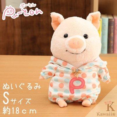 阿米購 日本 Pu-Ton 噗噗豬 噗通小豬 絨毛玩偶 布偶娃娃 S (圓點點小豬) 557-030411