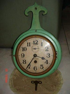 典藏一隻近百年日本製造的船型掛鐘-少见