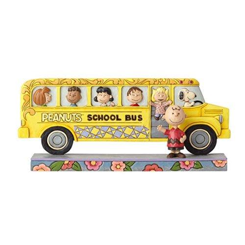 🗽Dona美國代購🗽預購 Enesco 史努比查理布朗與好友搭校車校園巴士公車 塑像 公仔擺飾裝飾