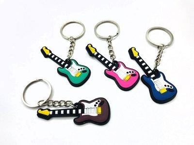 【老羊樂器店】樂器鑰匙圈 塑膠 鑰匙圈 吊飾 電吉他 吉他