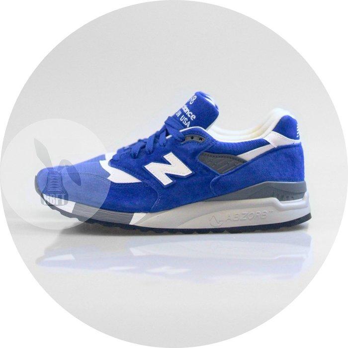 [RabbitFoot] NEW BALANCE 美製 998 M998CBU BLUE WHITE 寶藍白 D楦頭