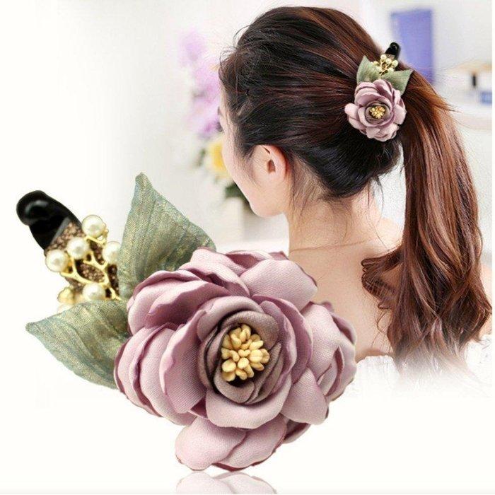 韓系氣質香蕉夾/花朵香蕉夾/花朵馬尾夾/兩色可選,一支特惠價$290