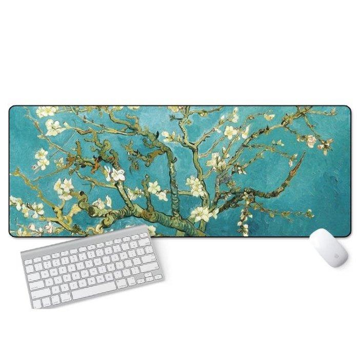 游戲超大滑鼠墊鎖邊中國風加厚可愛蘭亭序勵志筆記本電腦辦公桌墊 3c優購