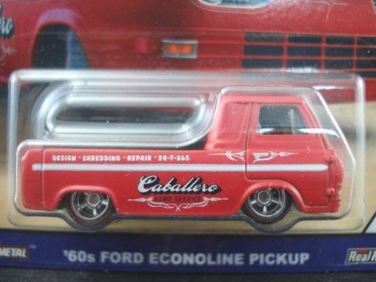 傳奇車庫-風火輪紀念版 1960's FORD ECONOLINE PICKUP 福特貨卡 全車全金屬製 膠胎 消光紅