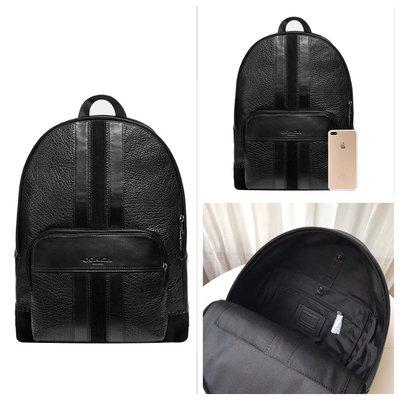 (Outlet特惠)COACH 49334 新款男士全皮素面雙肩背包 休閒後背包 附代購憑證