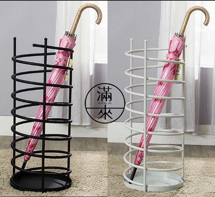 簡約線條創意傘桶 傘架 高60cm 大號直徑25cm 兩色可選【奇滿來】鐵藝雨傘放置架 收納桶雨傘桶 雨傘陳列架AMBQ