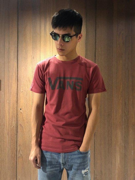 美國百分百【全新真品】VANS T恤 T-shirt 短袖 卡車 滑板 潮流 logo 酒紅 G738