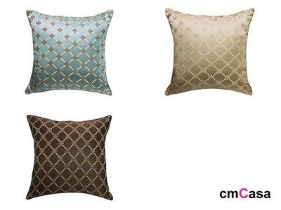 = cmCasa = [5246]歐式輕奢華風格設計 Tiofleurs立體緹花抱枕套 多色新古典新發行