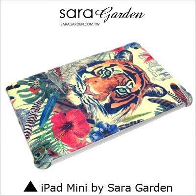 iPad Mini 1 2 3 4 客製化 保護殼 水彩 扶桑花 孟加拉虎【G345】