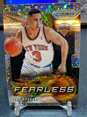 2019-20 Prizm Fast Break Fearless John Starks Disco Silver