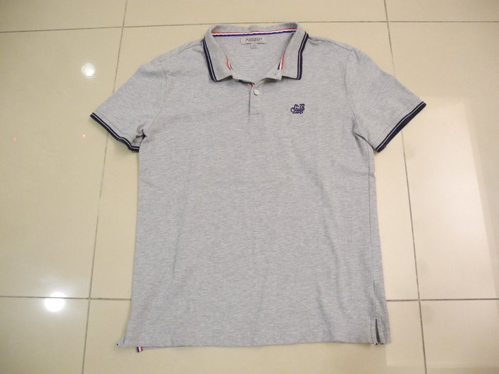 澳洲品牌 JEANSWEST 灰色95%純棉短袖POLO衫 (M)175/96A 320元 極新無汙損 萊爾富免運費
