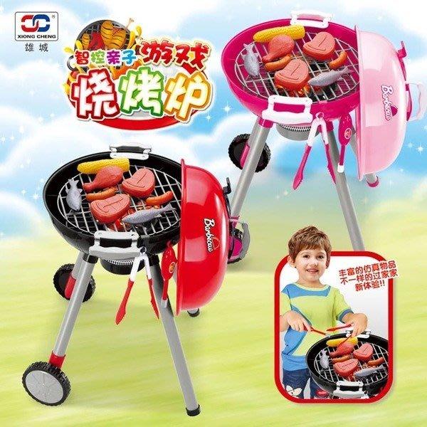 超大仿真智能觸控BBQ燒烤推車玩具組~聲光音效~家家酒玩具◎童心玩具1館◎
