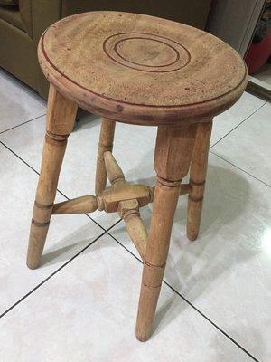 古董木頭圓椅