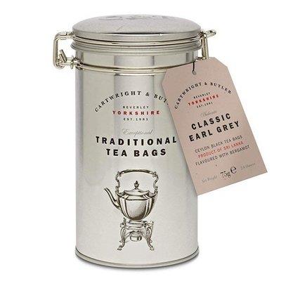 [要預購] 英國代購 英國CARTWRIGHT & BUTLER 鐵罐裝經典伯爵茶 75g