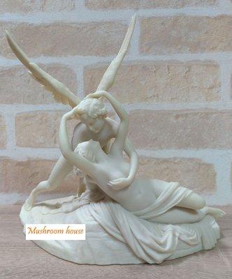 點點蘑菇屋 歐洲精品 愛神丘比特與賽姬 Cupid and Psyche 邱比特 希臘神話雕像擺飾 浪漫石雕像 免運費