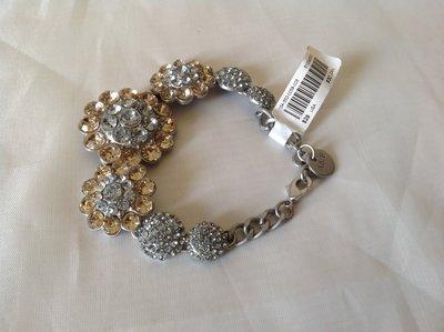 【天普小棧】Abercrombie A&F Metallic Shine Bracelet亮麗水鑽手鍊手環 現貨抵台