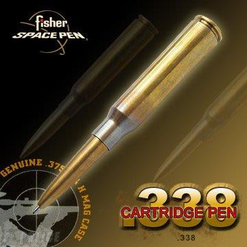 【angel 精品館 】美國 Fisher太空筆Space Pen-Military子彈造型太空筆 / 黃銅色 338