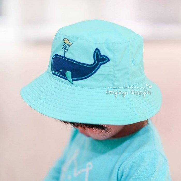 ≡ OnlyLingo ≡ 小鯨魚雙面戴漁夫帽 頭圍44-53公分 約0-8歲
