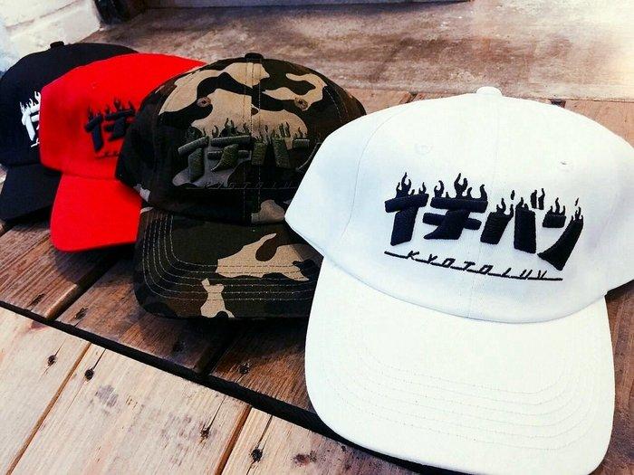 { POISON } KYOTO STREET Kyoto luv CAP 一番帽 THRASHER一級棒刺繡 彎延老帽