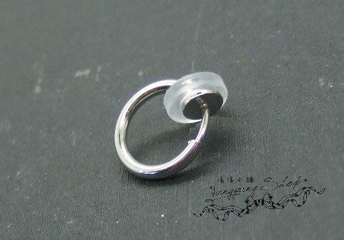 *。漾漾小舖*。DIY可緩衝彈簧感夾式耳環的墊片環☆【AT11】*一對10元