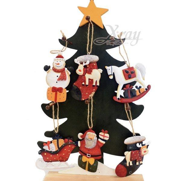 X射線【X018066】彩繪鐵片吊飾(6款-隨機出貨),聖誕節/掛飾/鐵片/手作/吊飾/裝飾/擺飾/交換禮物/道具