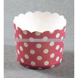 【蛋糕紙杯-紅色波點-15包/組】高溫烤杯子 馬芬蛋糕紙杯烘焙模具工具 10個/包-8001003