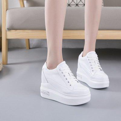 『Alice❤愛麗絲』震地王春季松糕增高百搭小白鞋厚底坡跟板鞋休閒女鞋