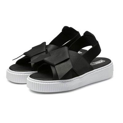 =CodE= PUMA PLATFORM LEATHER SANDAL 皮革增高厚底涼鞋(黑白)365481-01 泫雅
