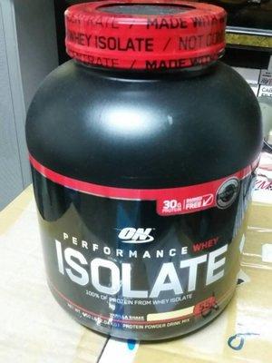 ON ISOLATE 分離乳清蛋白營養補充粉 香草2.04公斤 蛋白30公克 健身後補給