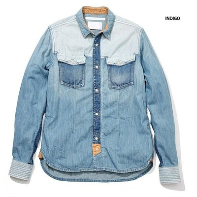 【日貨代購CITY】WHITE MOUNTAINEERING USED DENIM WESTERN 牛仔拼接 襯衫 現貨