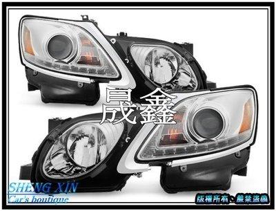 《晟鑫》全新 凌志 LEXUS GS300 GS350 可對應原廠HID 晶鑽 黑底 LED燈眉 魚眼 06-12 大燈