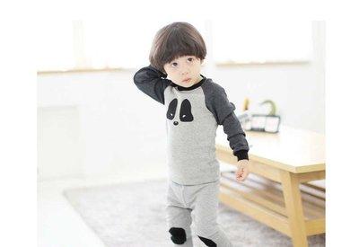 韓國童裝熊貓長袖睡衣家居服套裝 多碼 12個月起 開冷氣瞓必備