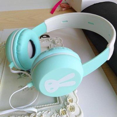 兔子耳機頭戴式女韓版可愛學生便攜式手機有線帶麥音樂通用vivo 享家生活館