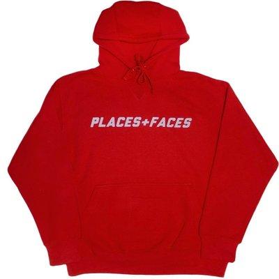 Places + Faces 3M Logo Hoodie 秋冬最新經典十字 反光 可露指帽T 紅色現貨【BoXhit】