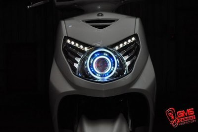 GMS-M6S 勁戰二代合法認證大燈 GAMMAS GMS-D2版六代魚眼 歐司朗燈泡 (含驗車文件) 嘉瑪斯總公司貨