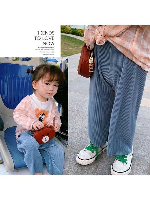 寶寶夏裝 新款童褲 女童洋氣9分闊腿褲 兒童超好穿壓褶防蚊褲