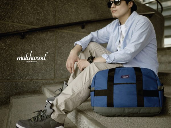【Matchwood直營】Matchwood Master 托特包 側背包斜背包 3C手提包 藍色款 精選6折優惠