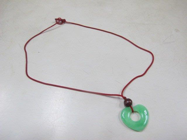 二手舖 NO.4092 玉石 愛心造型項鍊 手鍊 首飾飾品