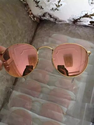 【全新正貨私家珍藏】雷朋太陽鏡Rayban代購 男女蛤蟆墨鏡 RB3447 彩膜粉色