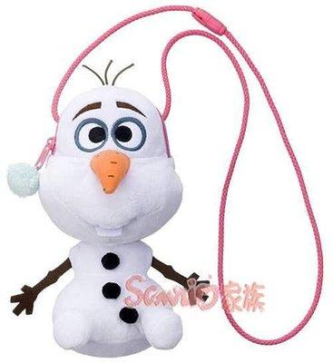 《東京家族》日本迪士尼冰雪奇緣 雪寶 娃娃 絨毛玩偶 零錢包 側背包