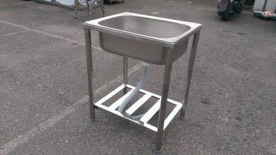 大台南冠均二手貨--全新 304#台面 63cm 單孔水槽 洗手槽 洗菜槽 洗碗工作槽 流理台 *工作台/攤車/餐飲設備