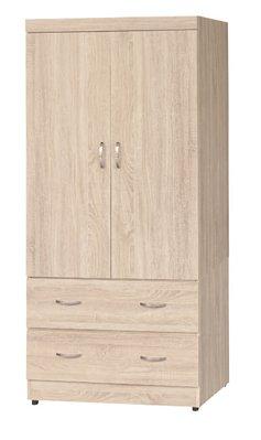 【南洋風休閒傢俱】精選時尚衣櫥 衣櫃 置物櫃 拉門櫃 造型櫃設計櫃- 無敵梧桐木3*6尺衣櫥 CY184-36