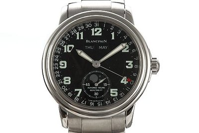 Blancpain 寶珀 Leman 系列年曆月相不鏽鋼自動腕錶