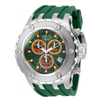 瑞士製 Invicta 人氣款1.7折! Subaqua 52mm 綠銀三眼手錶男錶潛水錶27823全新真品原廠包裝