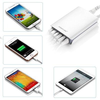 一台搞定! ※台北快貨※美國原裝 Poweradd 6-port 6孔USB 50W快速充電器 (非Anker 40W)