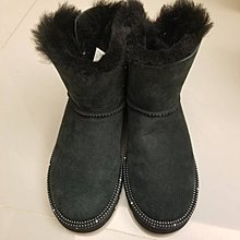 球球小舖~~二手迪士尼UGG雪地靴Sweetie Bow款 兒童款UK2.5~短靴~聯名款