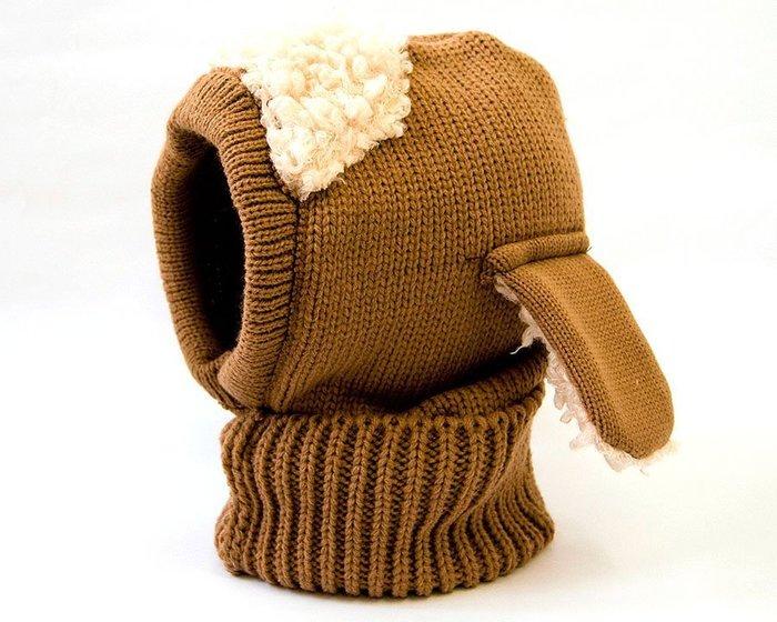 羊咩咩  楊妹妹   卡其 綿羊小狗系列連帽 斗篷 披肩 圍脖 動物 帽