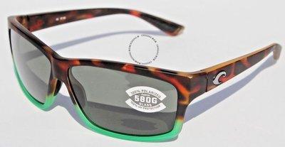 COSTA DEL MAR剪裁580 POLARIZED太陽眼鏡啞光Tortuga淡化/灰色580G新